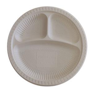Plato con compartimentos Almidon de Maiz